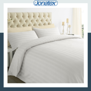 lux white duvet set