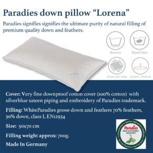 lorena pillow feather down