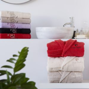 bath robes towels pierre cardin