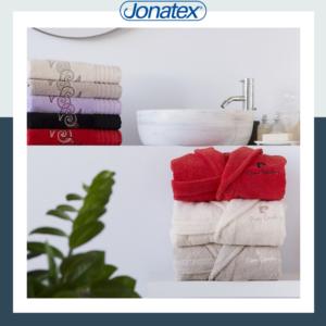 bathrobe set and towels
