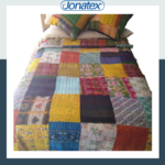 india silk patchwork bedcover