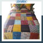 Bedspread India Silk Patchwork