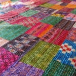 India Silk Patchwork bedspread