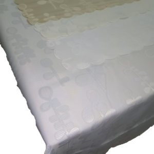 hilda tablecloth white background
